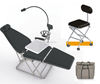 Portable Dental Chair with Stool and LED Light