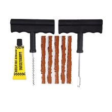 T-Handle Vulcanizing String Plugs Pro Tyre/Tire Puncture Repair Kit