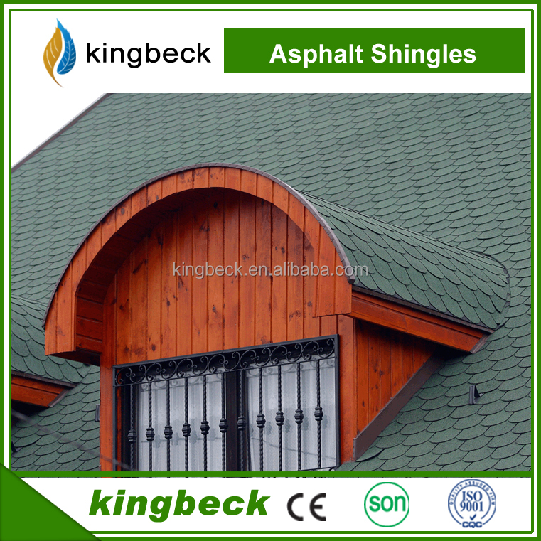 Metal roofing prices High Quality Fiberglass Fish Scale Asphalt Roofing Shingles