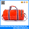 Korea fashion unisex bright color pu sport gym bag with shoes compartment