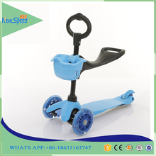 2016 China Scooter Factory Online Wholesale 3 IN 1 Kids Scooter Push Bike , Three Wheel Kids Kick Scooter For Sale