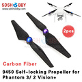1 Pair 9450 Carbon Fiber Propellers 9.4x5.0 Self-locking Propellers for Phantom 3 Phantom 2 Vision+
