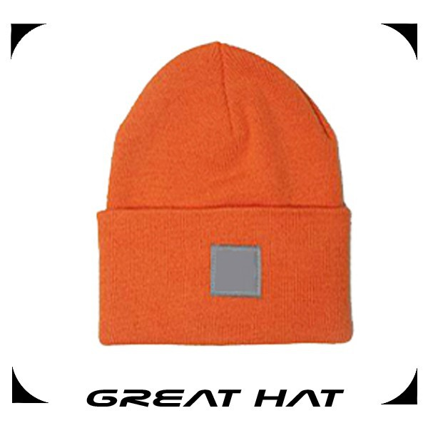 Fashion 2015 Folded Orange Military Winter Knitted Hat
