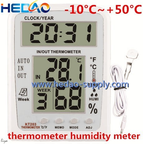High precision indoor outdoor digital thermometer and hygrometer