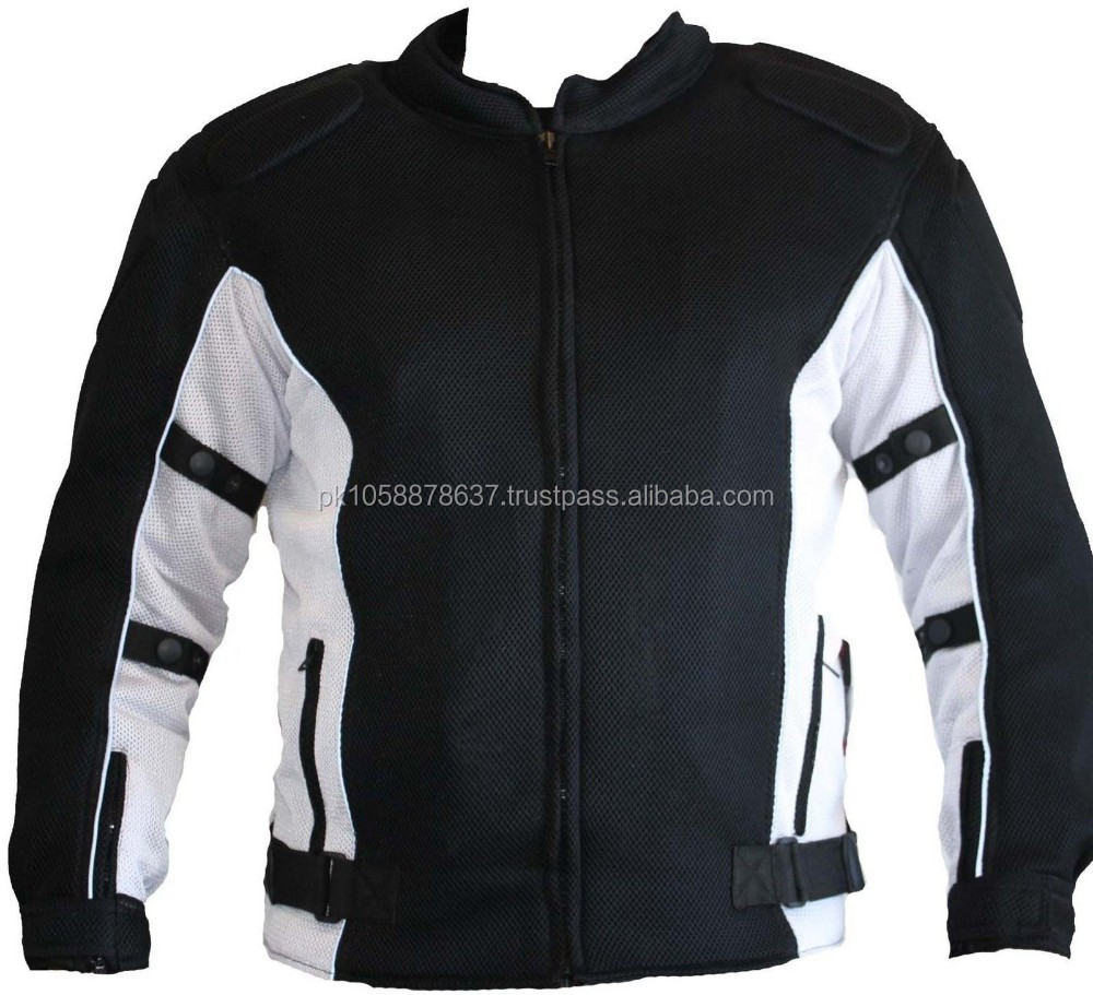 New Design Mens Summer Mesh Textile Motorcycle Motorbike Biker Jacket Coat New White Armour