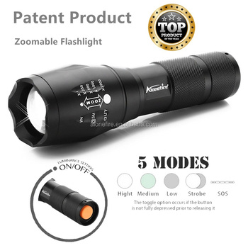AloneFire G700 LED Flashlight 18650 Zoomable LED Torch xml T6 3800LM led Focus zoom light for 18650 Rechargeable or AAA Battery