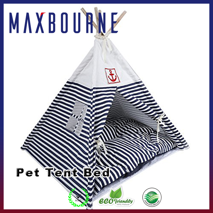 Triangle Stripe Indian Pet Tent Bed Cotton Dog Tent Bed