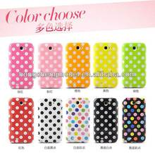 Newest dot design gel TPU mobile phone case for samsung galaxy S2 i9100