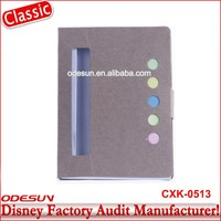 Disney Universal NBCU FAMA BSCI GSV Carrefour Factory Audit Manufacturer Office Supply Oem Accepted Personalized Notebooks