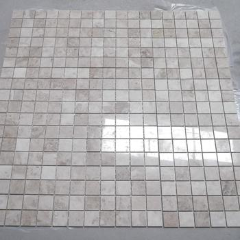 Mixed White,Black,Brown and Beige color Marble Mosaic floor tile