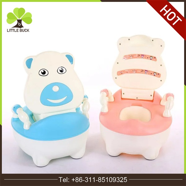 Urinal Plastic Training Potties Baby Potty portable Toilet Comfort Mat Seat With Bear Design