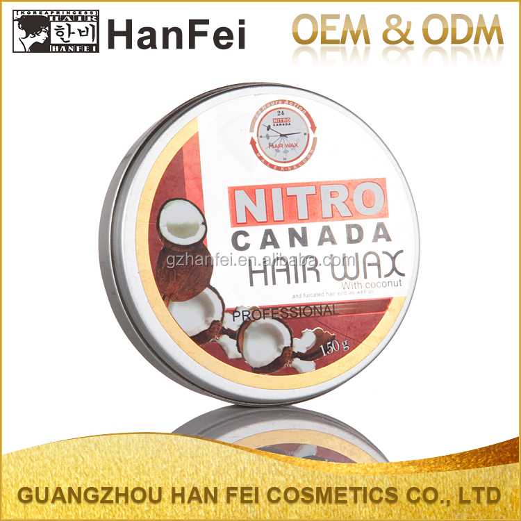 Factory price hair color styling wax strong nitro canada hair wax
