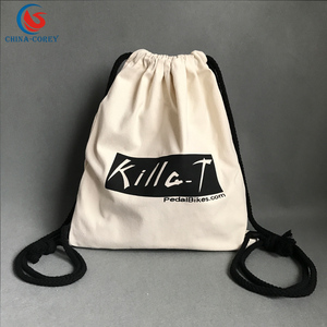 cotton canvas gym sport duffle bag with logo printed for promotional