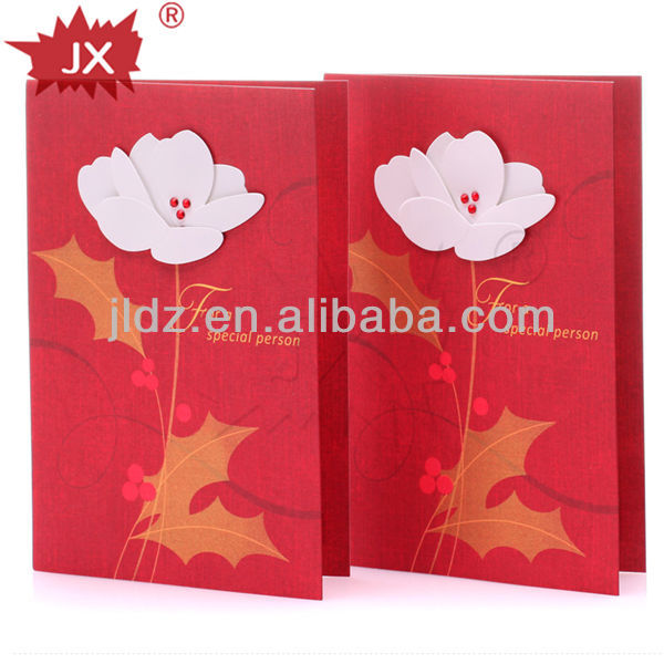 Nice paper card for wedding invitations Christmas or Spring Festival