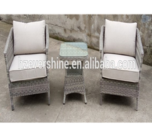 High Quality Wicker/Rattan Sofa Set cafe outdoor furniture