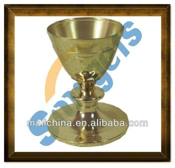 Brass metal church chalice