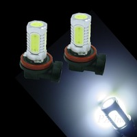 H8 High Power COB 7.5W LED For Car Auto DAYTIME HEADLIGHT DRIVING LIGHT Lamp Bulbs