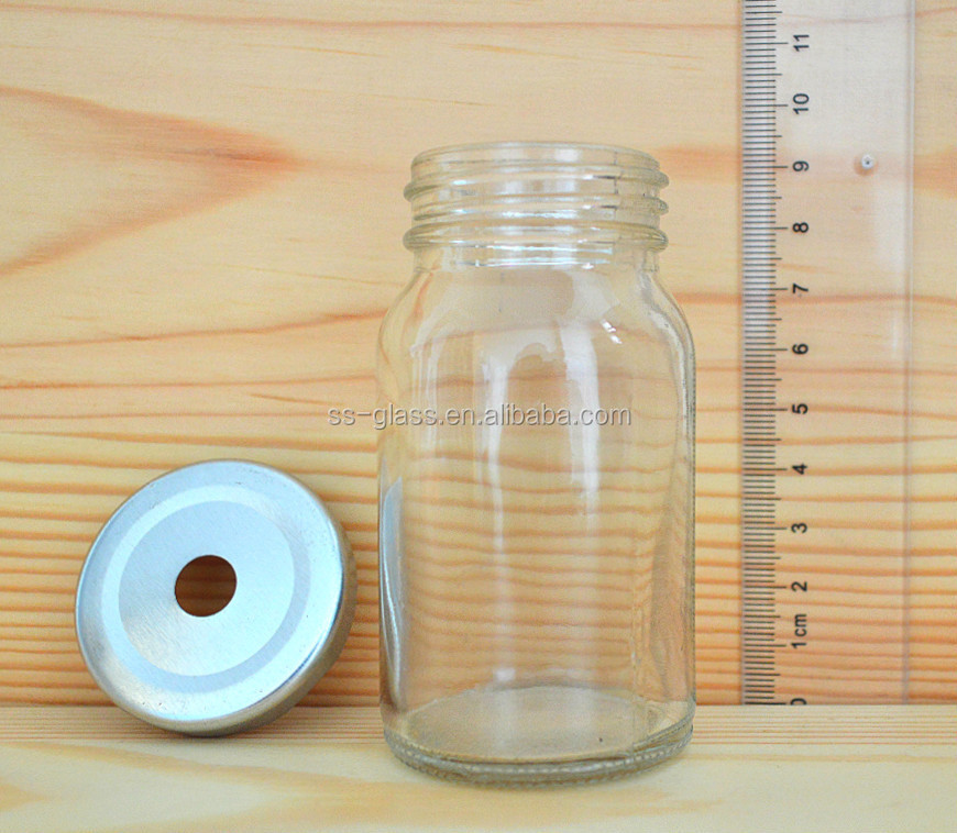 Factory price juice glass bottle clear glass bottle for beverage with screw cap