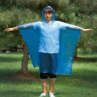PE Cheap Disposable Rain Poncho for Walking