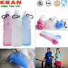 Fodable BPA Free Sports Customized Logo Carabiner Silicone Water Bottle Holder