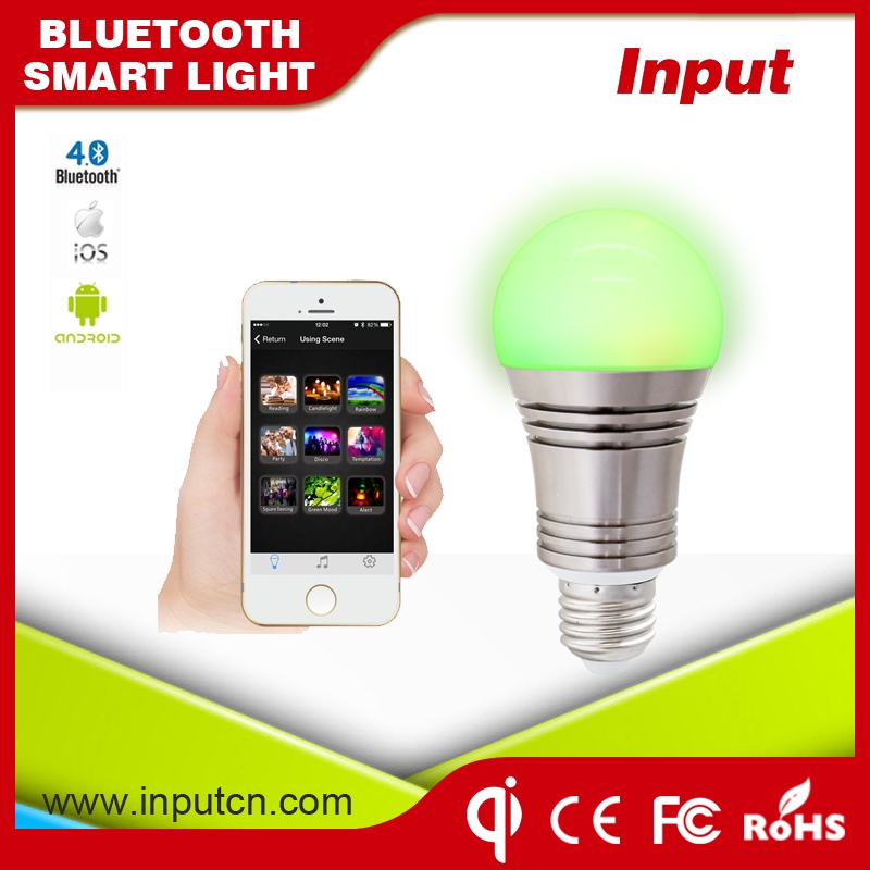 Smart led bulb China supplier directly sell 6.5W bluetooth led bulb with APP control