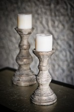 2017 Classical H335 Rustic gold concrete pillar candle holders