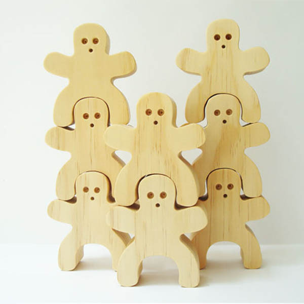 Eco Solid Wood Stacking People Balancing Wood Block Toy