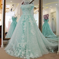 RP96221 Real fashion off shoulder lace organza corset prom dress green sexy long 2016 evening dress