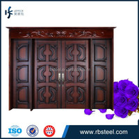italy style wood unique entrance door teak core wood modern doors