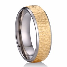 Wholesale Truegold jewelry company direct sale pure titanium steel hammer ring core gold
