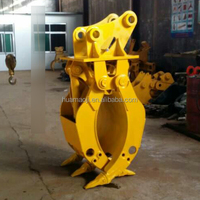 rotating type heavy duty stone rock hydraulic grapple for 40ton excavator