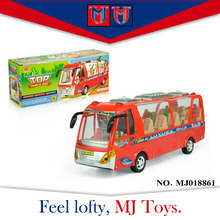 best sale mini car model electric lighting music luxury toy bus for kids