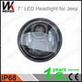 New Type 7 inch Round Angel Eye LED Head Lamp 50W Halo Motor HeadLight