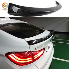 AC Type Carbon Fiber boot lip trunk wing spoiler For 5 Series GT Gran Turismo F07 14-17