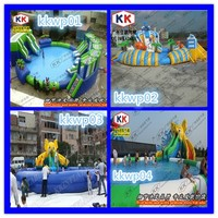 large Combined Inflatable Water Park For Funny Summer-giant Pool-big Slide