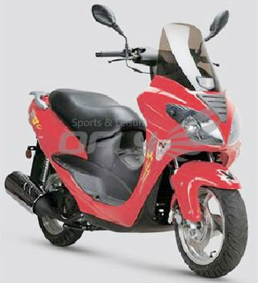 EEC/EPA DOT Approved Gas Motor Scooter with 2 Stoke 50cc Engine WZMS0532EEC/EPA