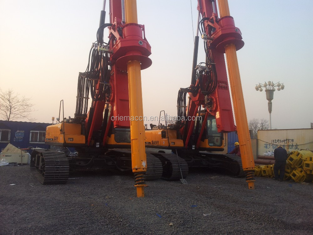 1500mm Pile Meter Water Borehole Drilling Rig Machine Sany SR155C10