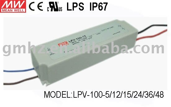100W LPV-100-12 MEANWELL/LED POWER SUPPLY/CE UL EMC