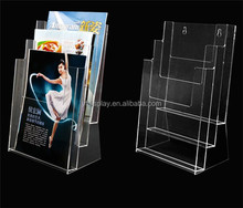 Custom Available Acrylic Flyers Display Rack Stand Files Organizer