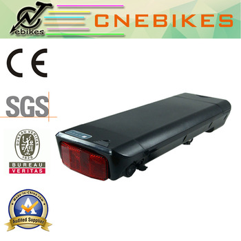 36v 11.6ah Samsung cells 10S4P 2900mAh rear rack battery