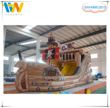 Classic design inflatable pirate boat slide, inflatable pirate ship