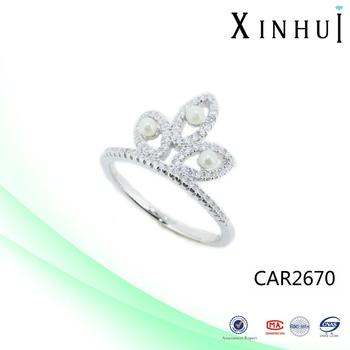 XINHUI Factory 2017 Hot Crown Shaped Ring wholesale
