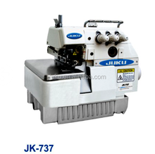 JK-737 High Quality Industrial 3 Thread Domestic High Speed Overlock Sewing Machine 737 Manual For Sale