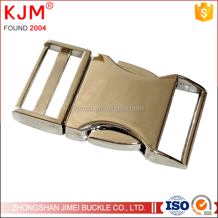 Custom made zinc alloy strong side release metal buckle for hiking bag