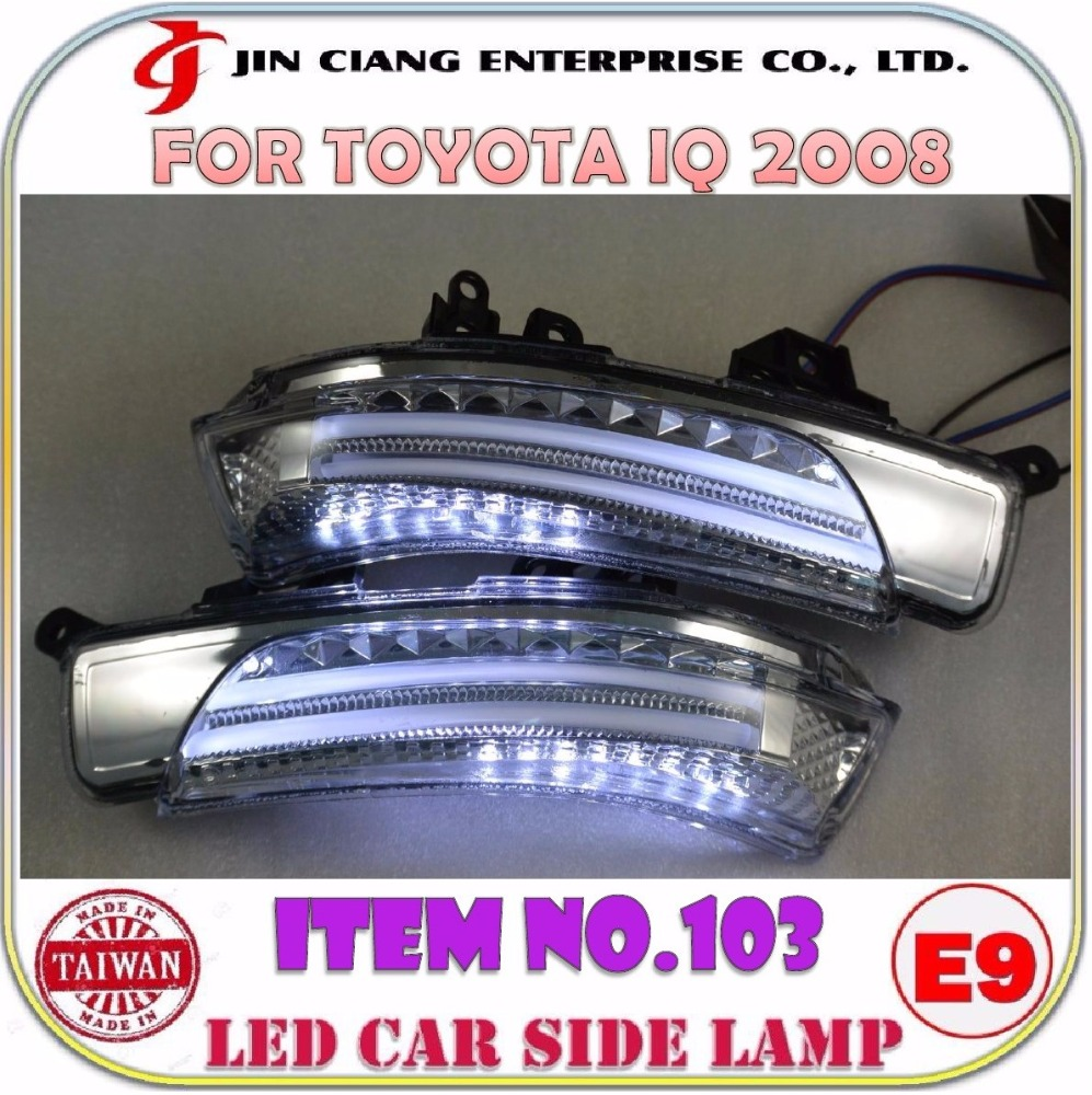 Car accessories Mirror Cover LED SIDE LAMP Light FOR JAPAN Toyota IQ