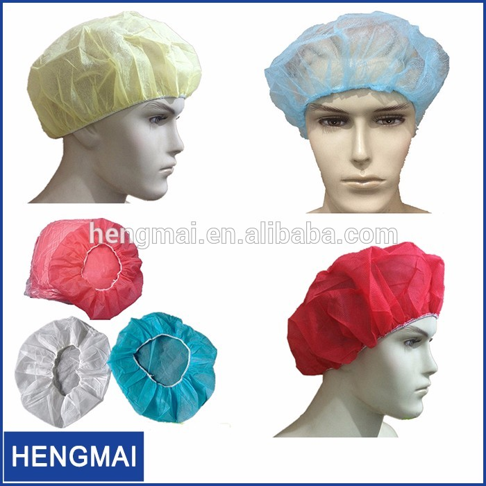 Medical Use Disposable Bouffant Scrub Hats Surgical Bouffant Cap