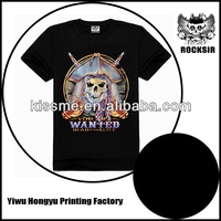 Zhejiang Yiwu Printing Factory wholesale 100% cotton black girls rock t shirt