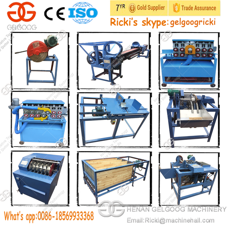 Factory Price Automatic Tooth Pick Stick BBQ Skewer Processing Production Line Bamboo Toothpick Making Machine for Sale