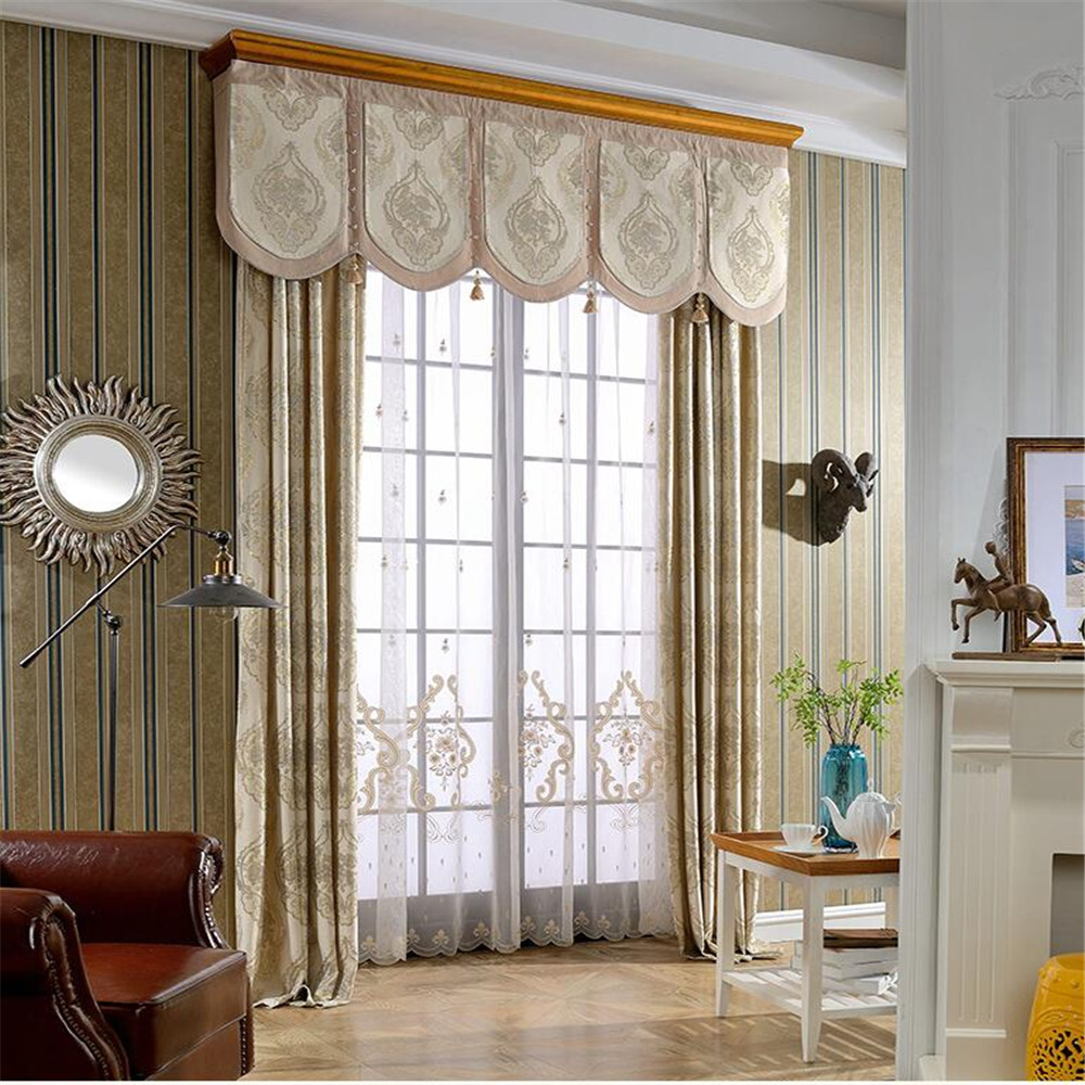 100% polyester fabric valance window curtain