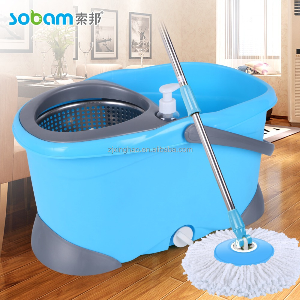 microfiber 360 degree floor cleaning mop and bucket